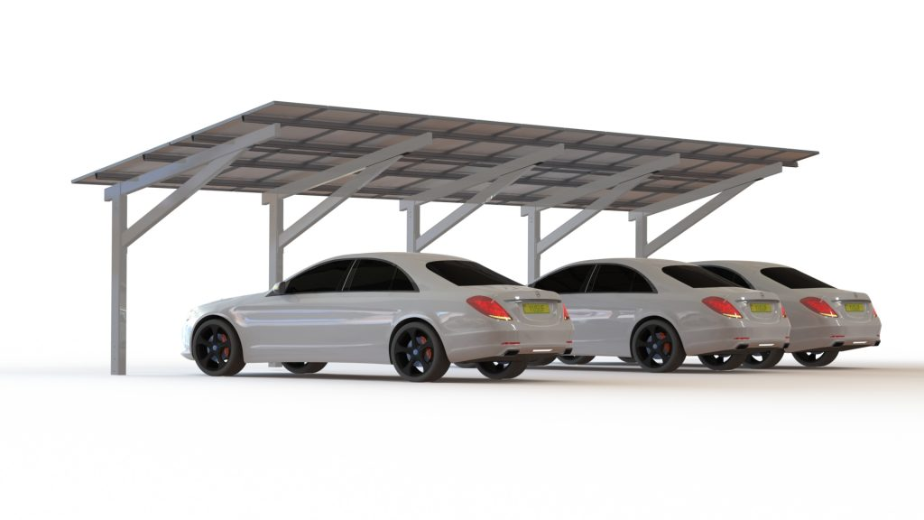 This solar canopyu0027s versatile design offers a greater scope in its application for both public and private premises ranging from walkways smoking areas ...  sc 1 st  Sunfixings & Solar canopy - part of the Eport solar carport range from Sunfixings