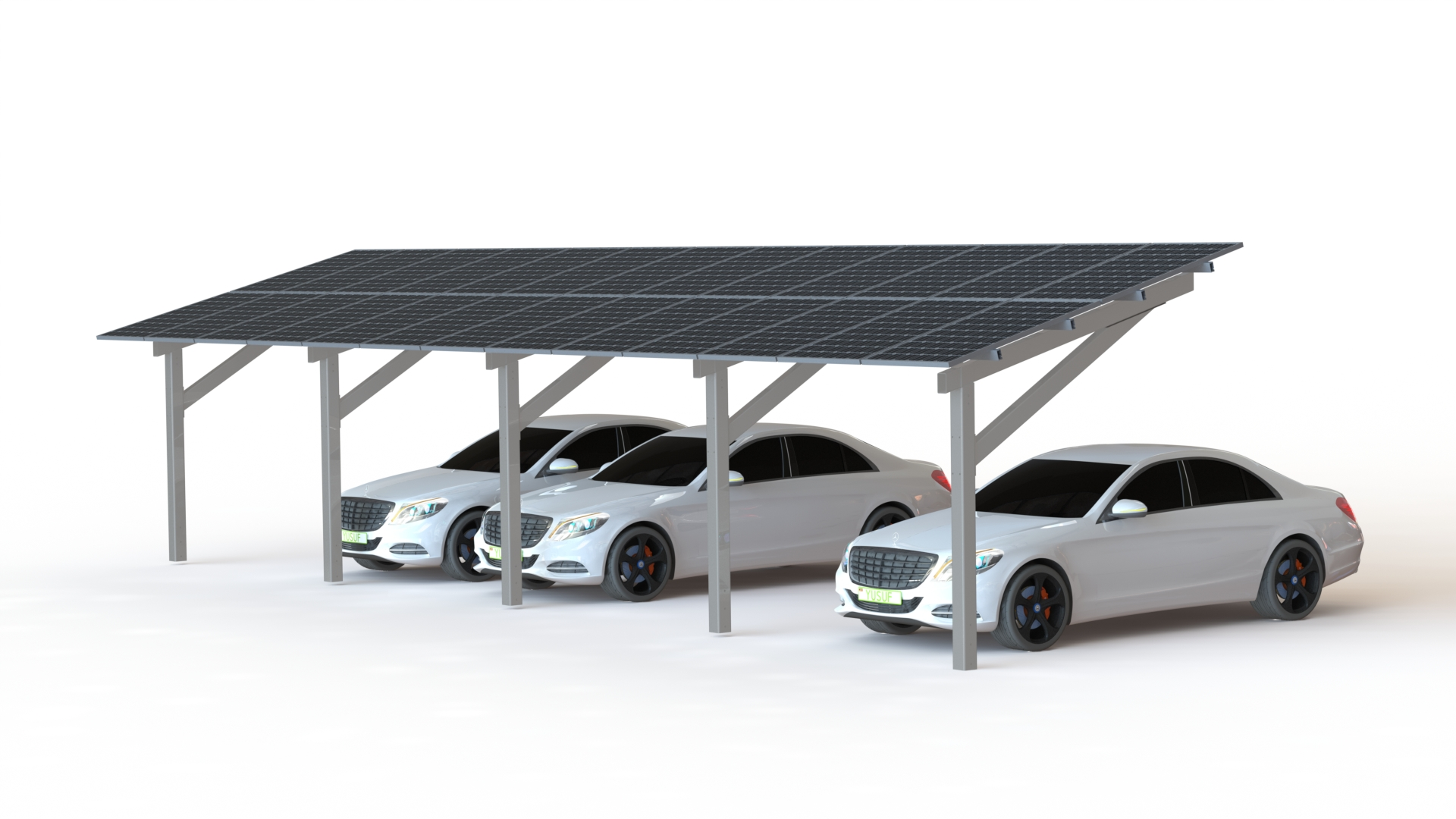 Solar Canopy Part Of The Eport Solar Carport Range From